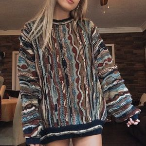Vintage Oversized Coogi Style Sweater